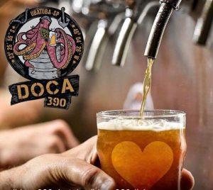 Torneiras de chopes da Cervejaria Doca, foto retirada da página do Google