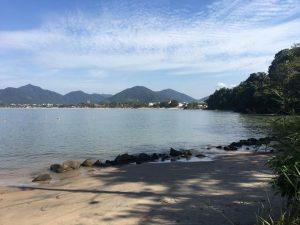 vista da baía do Itaguá e do centro