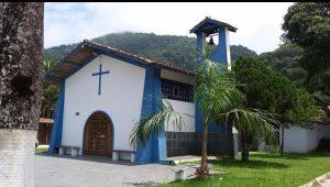 Capela de Santa Rita de Cassia, Praia da Enseada, Ubatuba, SP,