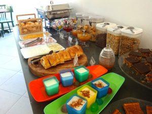 Café da manhã da Pousada Baía das Conchas
